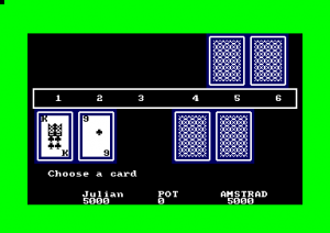 Three card brag (Amstrad Disk 50)