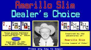 Amarillo Slim Dealer's Choice