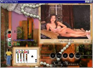 Digital Strip Poker featuring Kelly Monaco