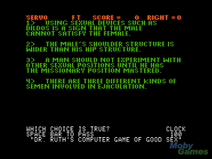 Dr. Ruth\'s Computer Game of Good Sex