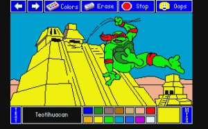 Electric Crayon Deluxe Teenage Mutant Ninja Turtles World Tour This Computer Coloring Book