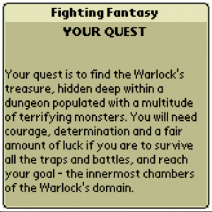 Fighting Fantasy Book 1: The Warlock of Firetop Mountain