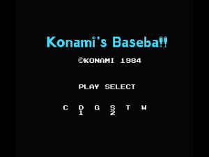 Konami\'s Baseball