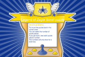 Legend of Zagor Scroll Puzzle