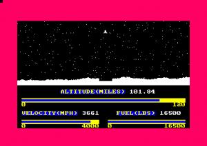 Lunar Landing (Amstrad Disk 50)