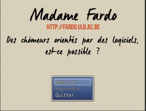 Madame Fardo Serious Game Main Menu