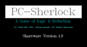 PC-Sherlock: A Game of Logic & Deduction