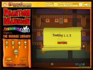 Phantom Mansion: Spectrum of Souls - Chapter 2: The Orange Library
