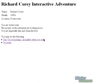Richard Corey Interactive Adventure