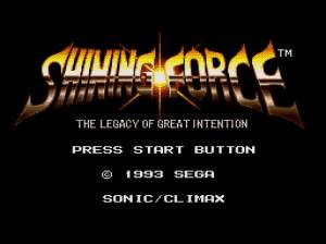 Shining Force: Legacy of Great Intention