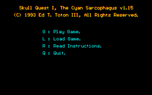 Skull Quest I: The Cyan Sarcophagus