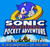 Sonic The Hedgehog Pocket Adventure