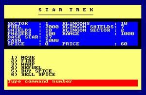 Star Trek (Amstrad Disk 50)