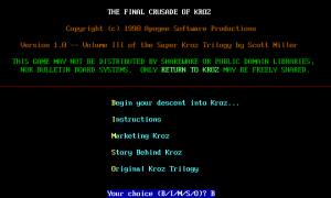 The Final Crusade of Kroz