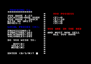 Trucking (Amstrad Disk 50)