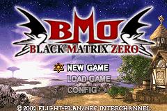Black/Matrix Zero
