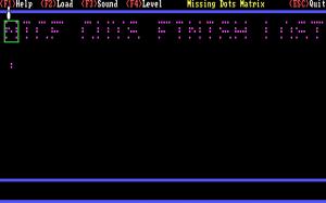 Missing Dots Matrix