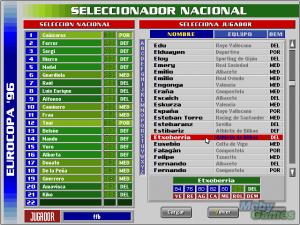 PC Selección Española de Fútbol Eurocopa \'96