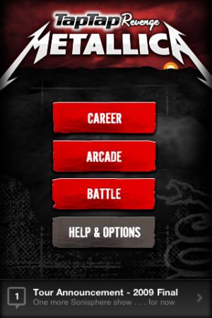 Tap Tap Revenge: Metallica